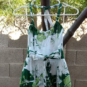 [Fire Los Angeles] Green & White Tea Party Dress